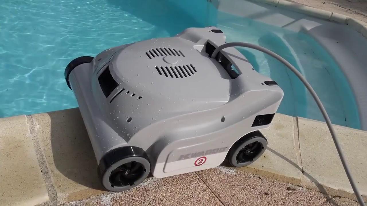 kwadoo 2 robot de piscine lectrique youtube. Black Bedroom Furniture Sets. Home Design Ideas