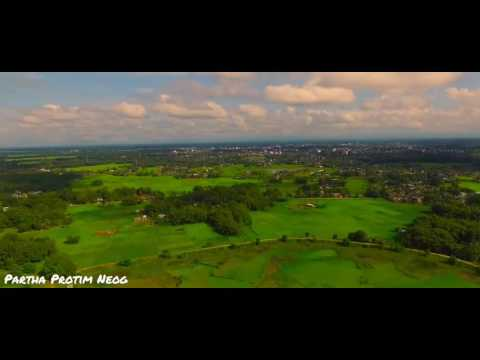 Drone test shots, HD, beautiful Jorhat, Assam