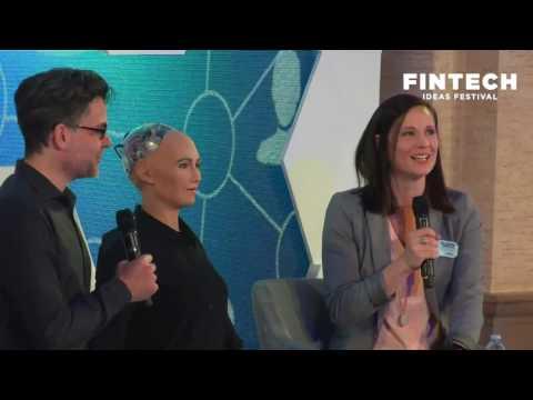 Dr. David Hanson & Sophia, Mastercard's Ajay Banga, Bank of America's Brian Moynihan Open #FIF2017