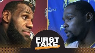 Stephen A. judges LeBron James' injury comments differently than Kevin Durant's | First Take | ESPN