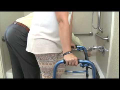 Tub and shower transfers usinga Shower Seat