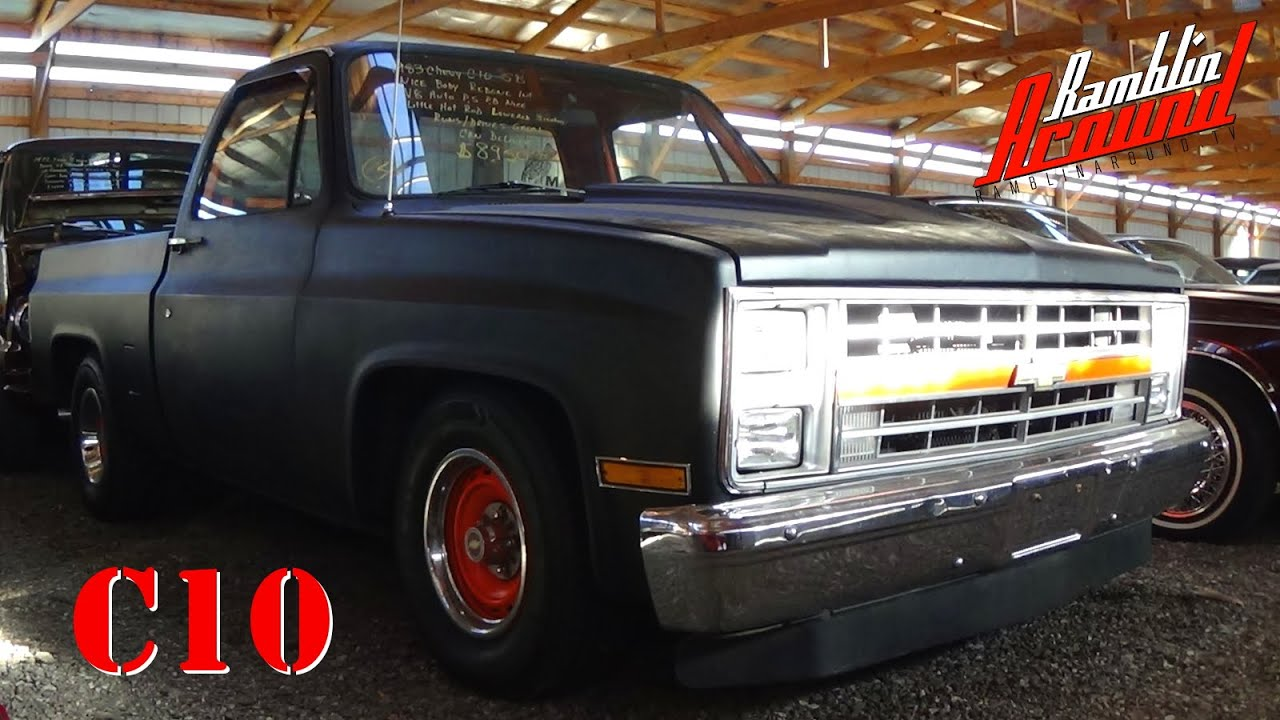 Chevy Silverado Custom Wheels >> 1983 Chevrolet C10 Shortbed Pickup V8 Flat Black - YouTube