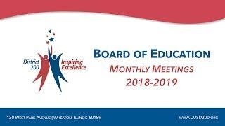 CUSD200: Board of Education Meeting: November 14, 2018