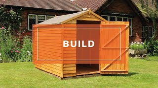 How to Install: Waltons 8 x 6 Ultra Value Overlap Apex Garden Shed