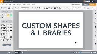 Lucidchart Tutorials - Create custom shapes & custom libraries
