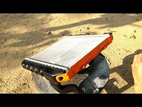 Car radiator repairing || Maruti 800 radiator repairing
