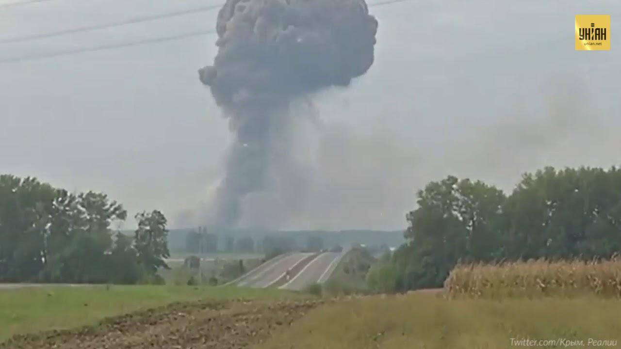 Москву обвиняют в поджоге складов Украины