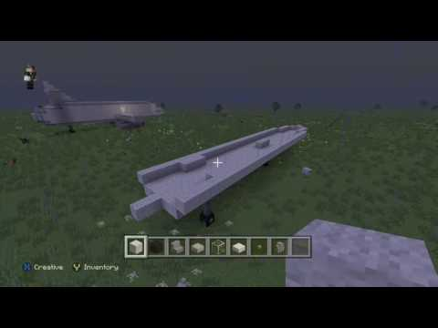 how to make a cargo plane in Minecraft pt1