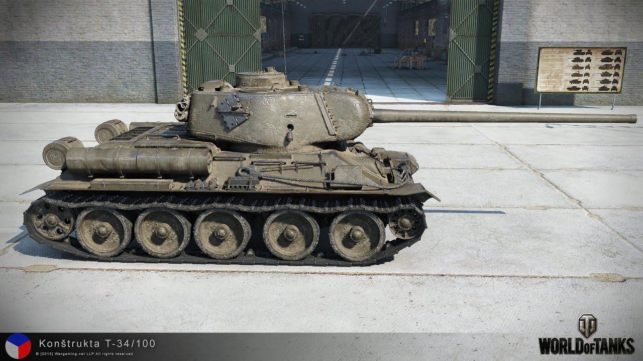 WoT Konstrukta T-34/100 tier VII Czechoslovakian - YouTube