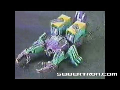 Transformers G1 Scorponok Headmaster commercial 1987