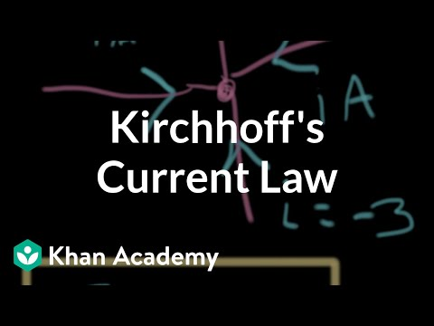 Kirchhoff's current law | Circuit analysis | Electrical engineering | Khan Academy