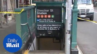 Israeli tourist slashed at Bleecker Street subway station - Daily Mail
