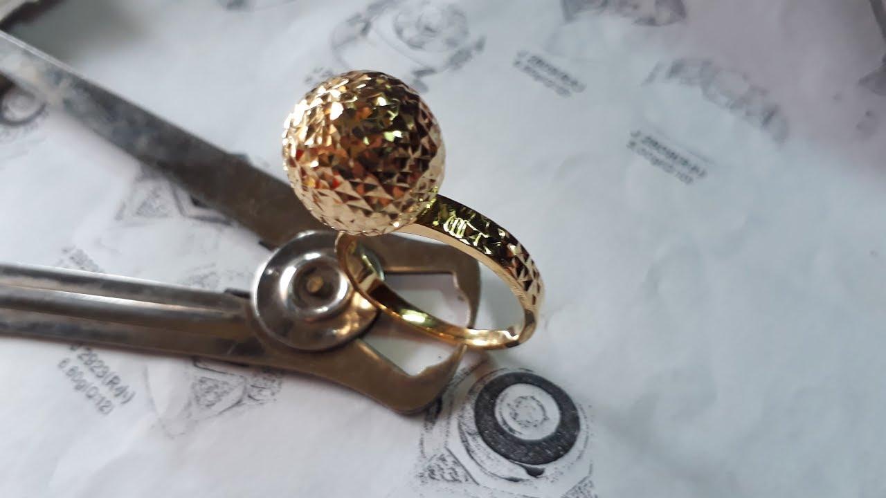 18k gold- female handmade rings - YouTube