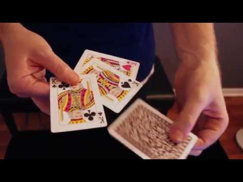 Aaron Fisher Visual Card Magic Series: Fourtopia Four King Production Trick