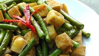 Vegan Vegetarian Vietnamese Recipe: Lemongrass Tofu With Green Beans