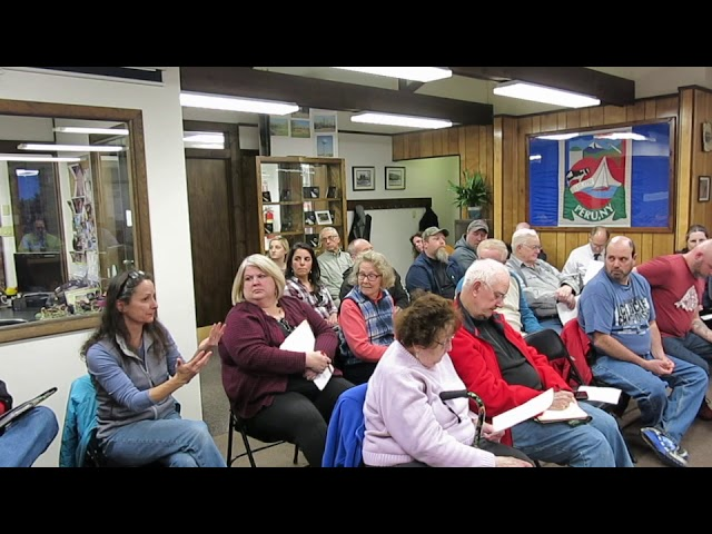 Peru Town Board Meeting  of March 12, 2018