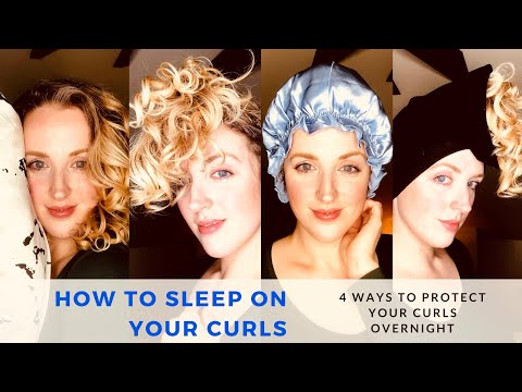 how-to-sleep-on-your-curls:-4-ways-to-protect-your-curls-overnight