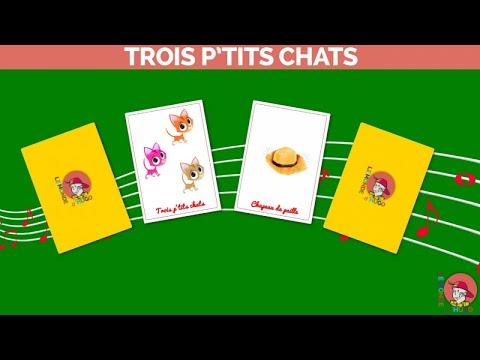 Le Monde d'Hugo - Trois p'tits chats - Version karaoke