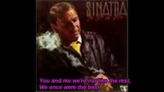 "You And Me [ We Wanted It All ] Frank Sinatra ""Cover"" With Lyrics"