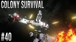 Space Engineers - Colony Survival Ep #40 - SPACE DRONE ATTACK!!