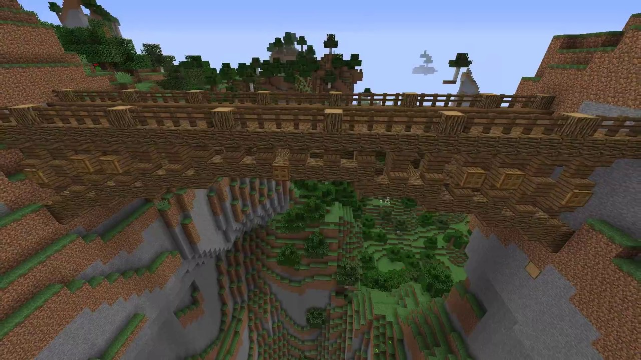 minecraft wooden bridge designs