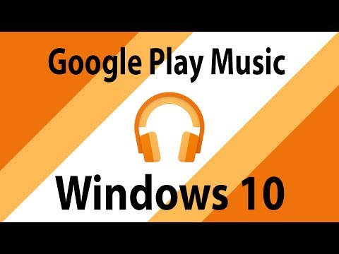 Google play music app for Windows 10 Pc
