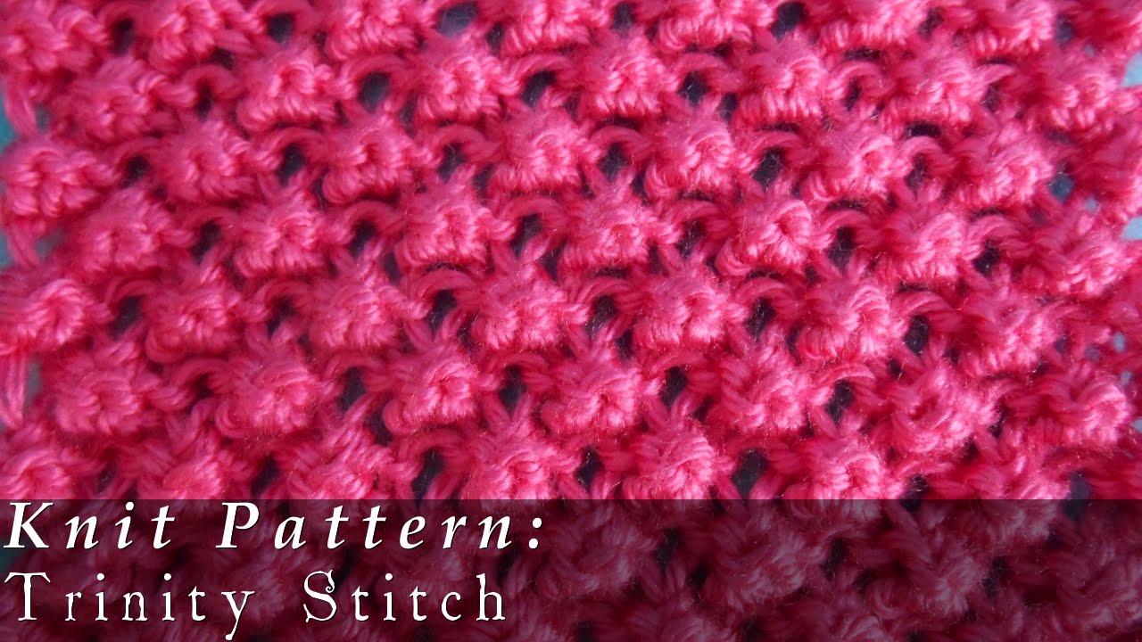 Knitting Stitches Popcorn : Trinity Stitch { Knit } - YouTube