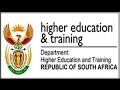 Dept of Higher Education & Training: Internships 2017 /2018