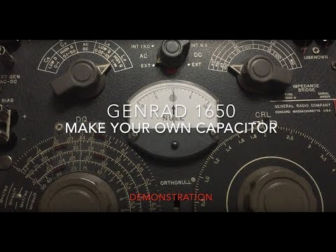 Making a capacitor with a genrad 1650