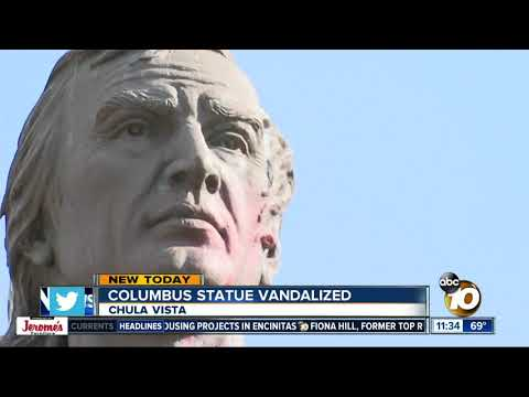 Christopher Columbus Statue At Chula Vista's Discovery Park Found Vandalized