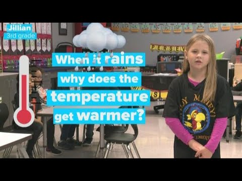 When it rains, why does the temperature get warmer? | Weather You Know