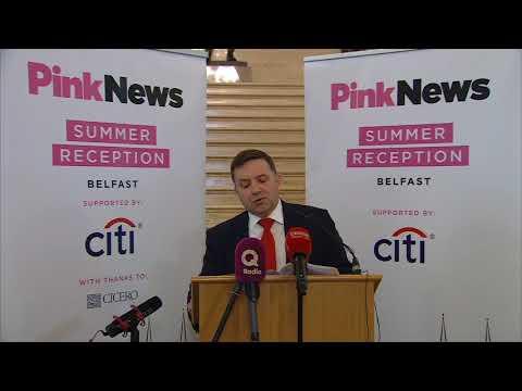 Ulster Unionist Party Leader Robin Swann MLA's speech at Pink News summer reception