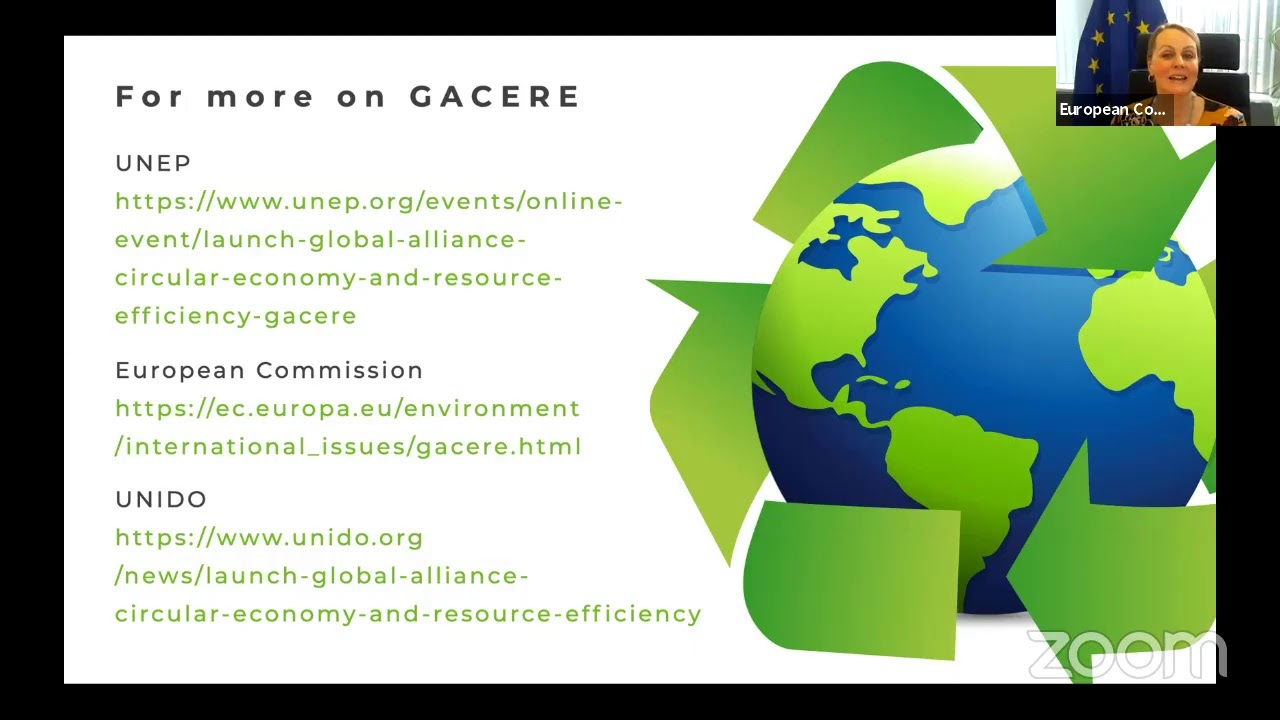 Download Global Alliance on Circular Economy and Resource Efficiency (GACERE) launch event