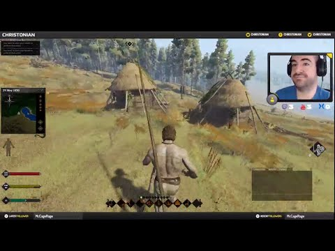 Let's Play - Life Is Feudal MMO - Ep 2 - Fishing, Stealing, Running!