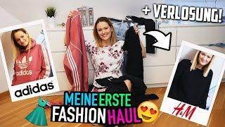 Mein erster FASHION HAUL👗 | Try on Adidas & H&M + Verlosung😍  | Mone
