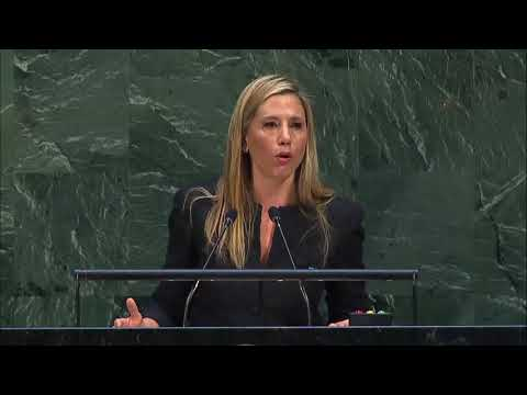 Mira Sorvino (UNODC Goodwill Ambassador) at High-Level meeting ...