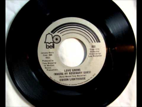 Love Grows , Edison Lighthouse , 1970 Vinyl