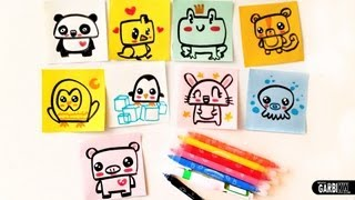 How To Draw Cute Animals - Easy Drawings by Garbi KW