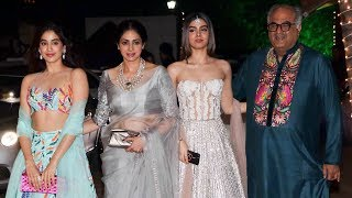 Sridevi With HOT Daughters Jhanvi & Khushi Kapoor At Shilpa Shetty's Diwali Party