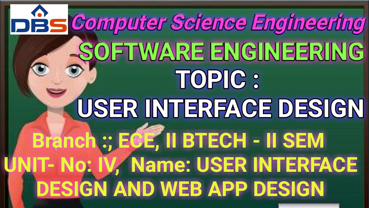 Software Engineering User Interface Design And Web App Design User Interface Design Youtube