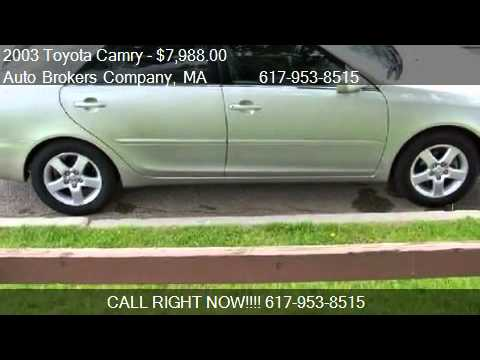 2003 Toyota Camry Xle For In Somerville Ma 02143