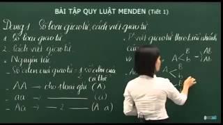 Bài 15 Bài tập   Qui luật di truyền Menden   Tiết 1