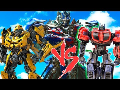 OPTIMUS PRIME vs BUMBLEBEE vs OPTIMUS PRIME WAR FOR CYBETRON - EPIC AUTOBOT DEATHMATCH