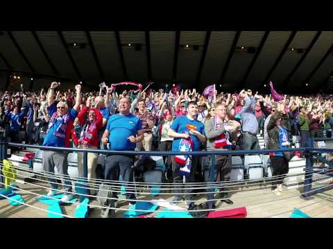 FANCAM | Inverness Caledonian Thistle Fan's Celebrate the Winning Goal