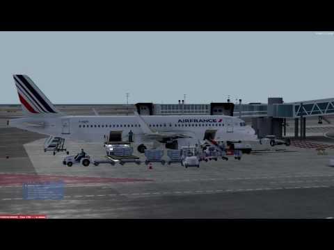 [PREPAR3D] Nice côte d'azur - Paris CDG | Air France | A320 | ILS CATIIIa