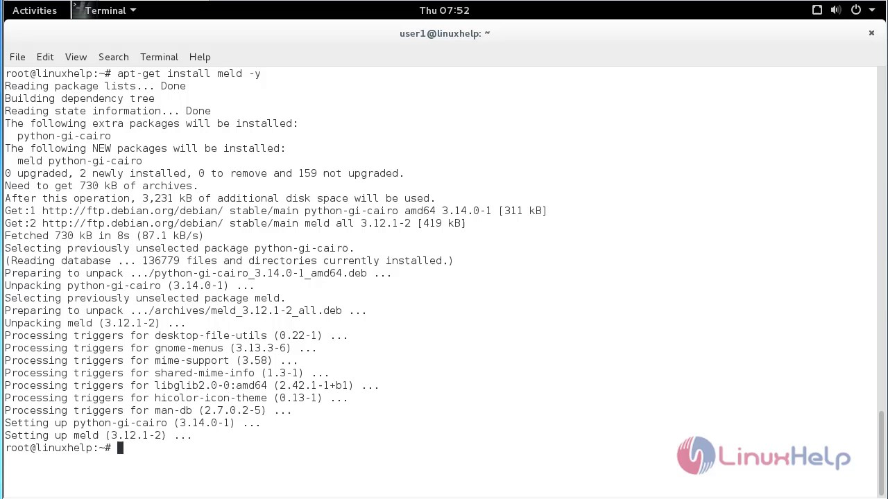 How To Install Meld on Debian 8 6
