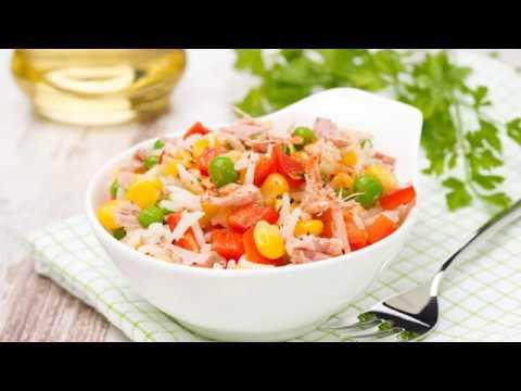 recette salade de riz au thon youtube. Black Bedroom Furniture Sets. Home Design Ideas