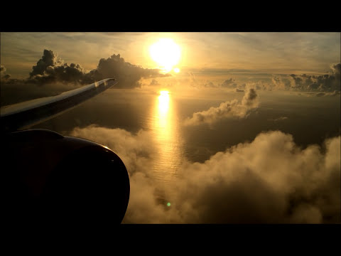 Air France 777-200 - Los Angeles to Papeete, Tahiti with Beautiful Sunrise Approach and Landing