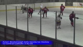 Acton Boxborough Girls Ice Hockey vs Central Catholic 2/6/16