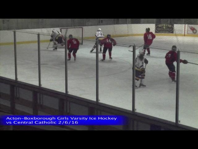 Acton Boxborough Girls Ice Hockey vs Central Catholic 2/6/16